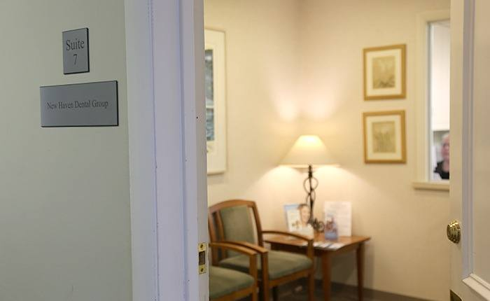 Door into dental waiting area