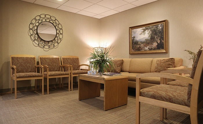 New Have dental office reception area