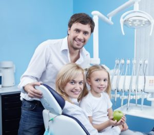 family at dentist